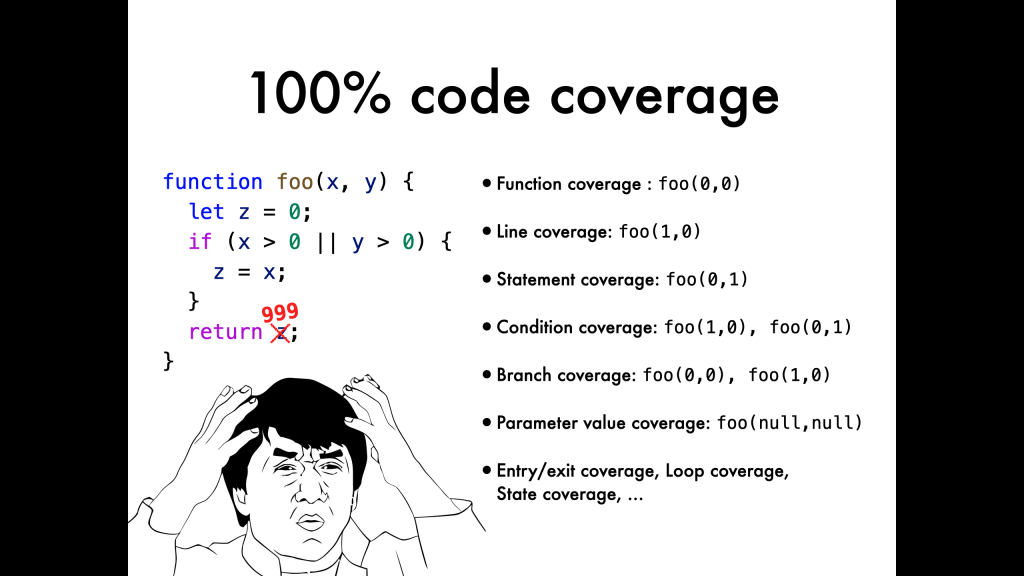 code coverage: it will blow your mind